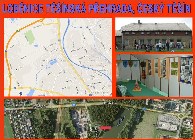 Loděnice Těšínská přehrada Český Těšín